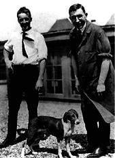 Banting and Best, discoverers of insulin, and the dog who got the first dose!