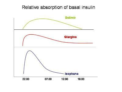 Basal insulin action profiles